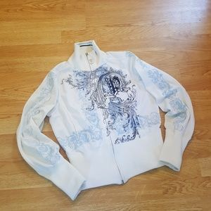 Pepe Jeans Angel zip up jacket White/Blue Small
